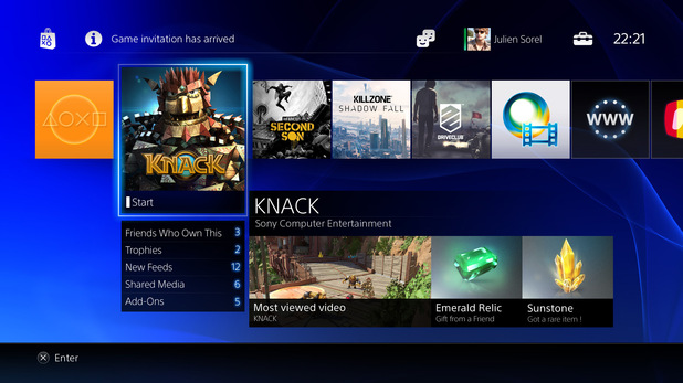 Previous Next PlayStation 4 menu screens in pictures: The home screen ...