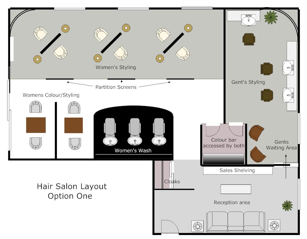 Hair salon layout option 1
