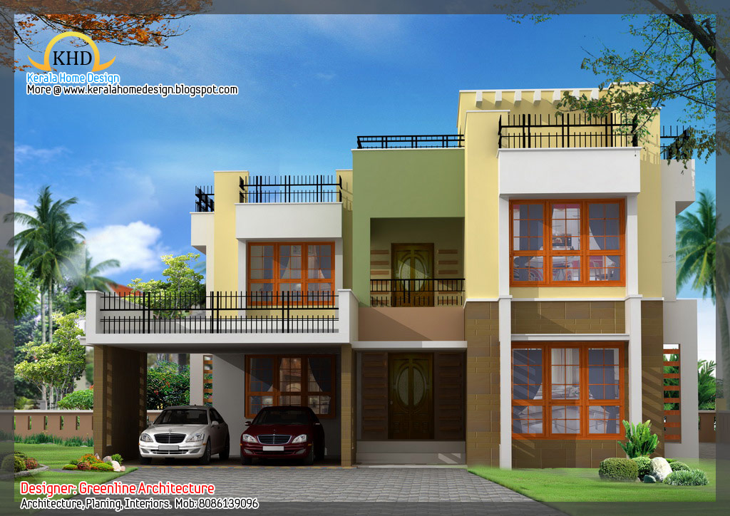 ... Awesome House Elevation Designs - Kerala home design and floor plans