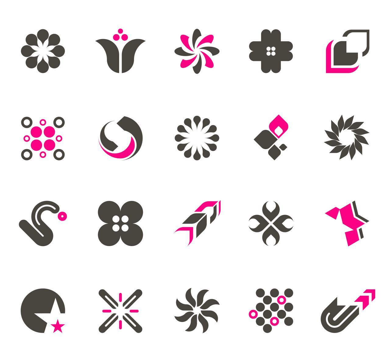free vector Simple trend vector logo design material