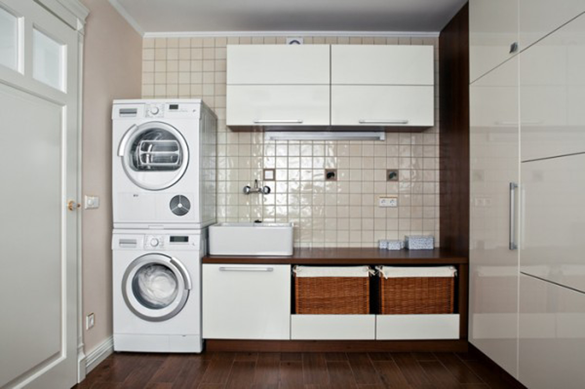 ... Laundry Room Tips and Ideas with Modern Laundry Storage Application