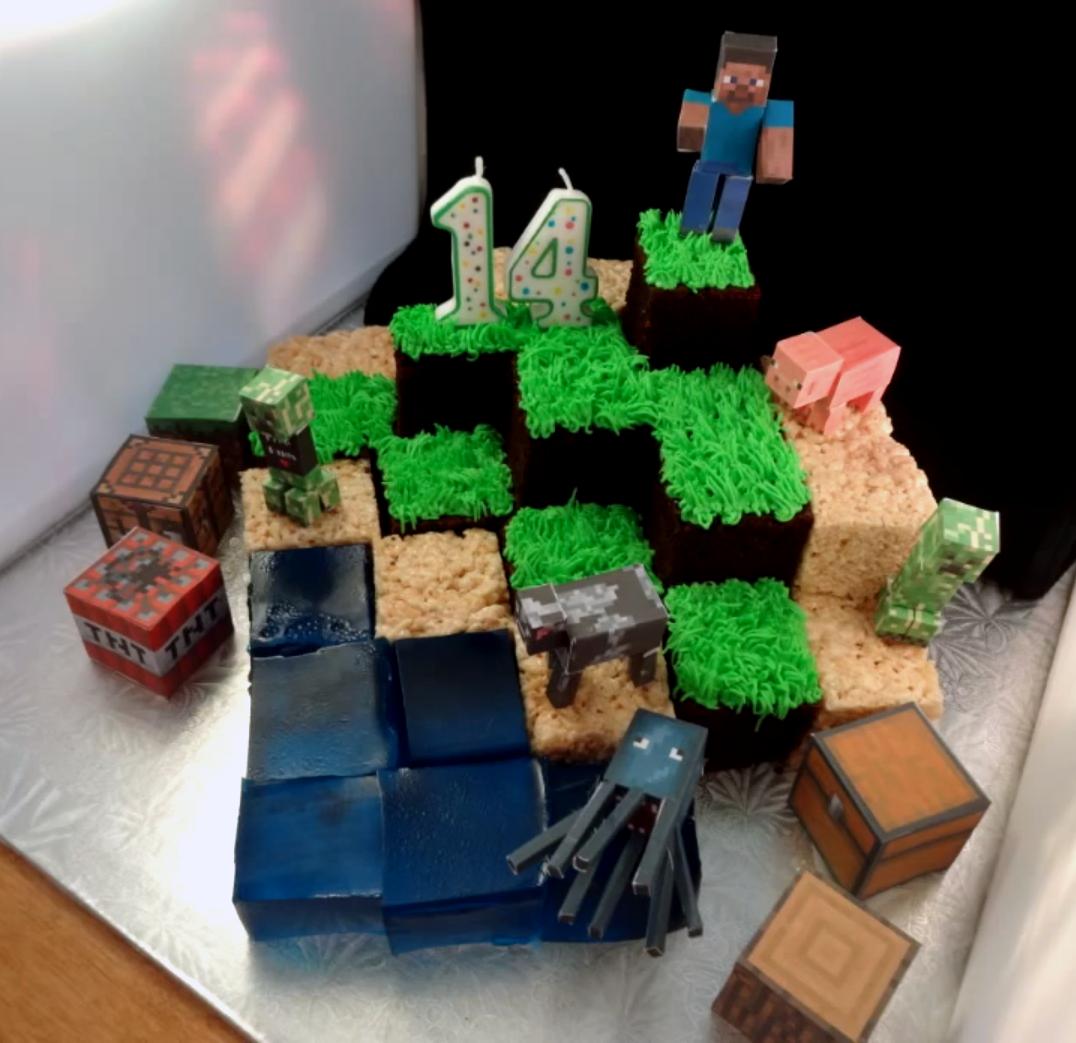 Minecraft cake recipes and inspirational designs