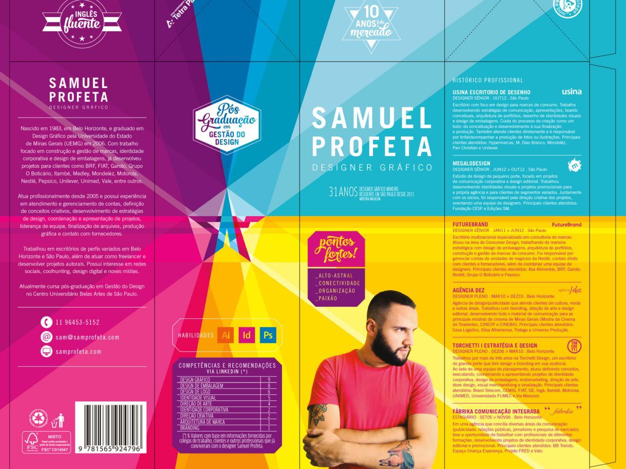 Creative Resume By Graphic Designer Samuel Profeta