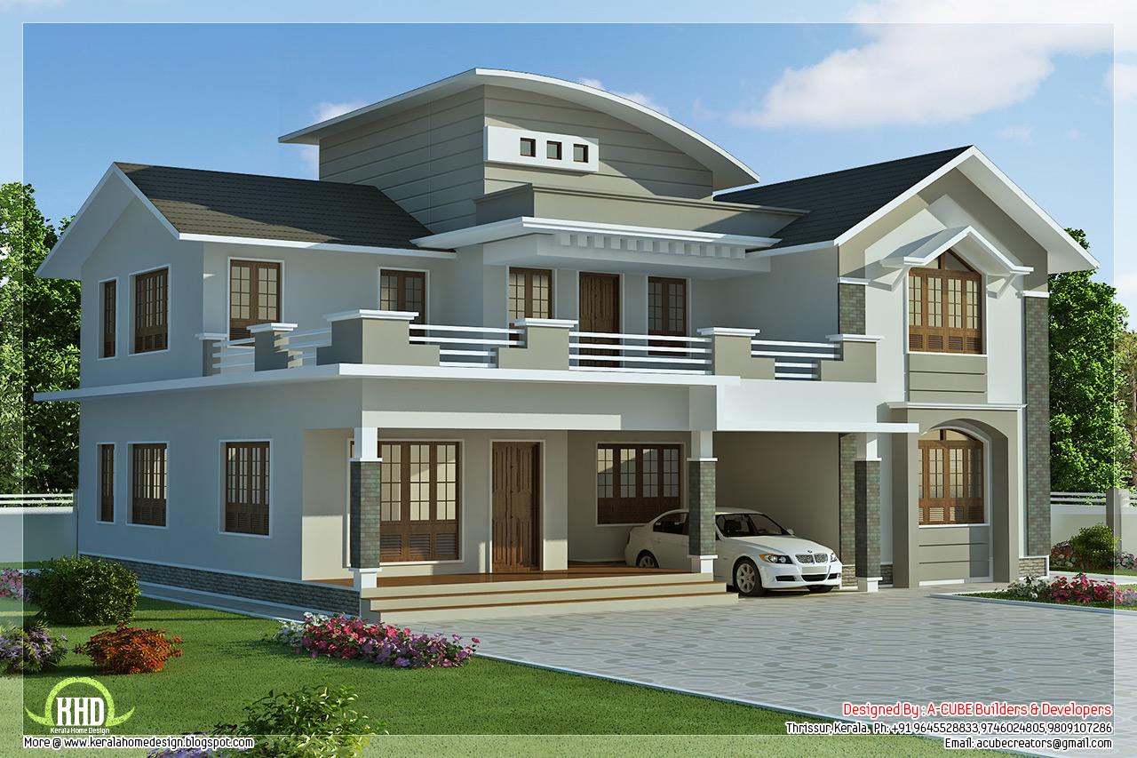 ... sq.feet 4 bedroom villa design - Kerala home design and floor plans