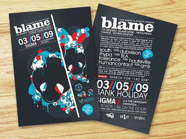 25 Stunning Examples of Nightclub Party Poster / Flyer Design Ideas