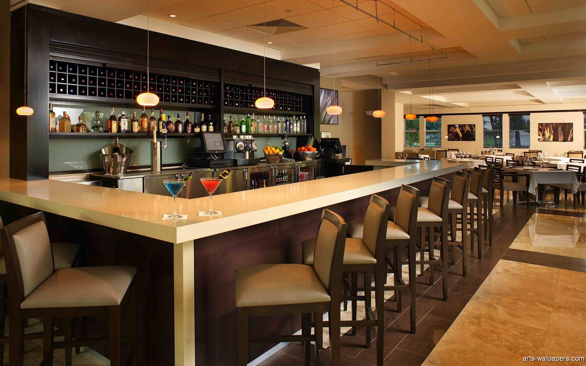 Restaurant Bar Interiors Posters, Art Print, Interiors Wallpaper