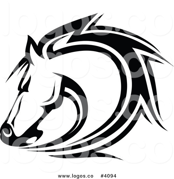 Royalty Free Horse Head Logo by Seamartini Graphics - #4094