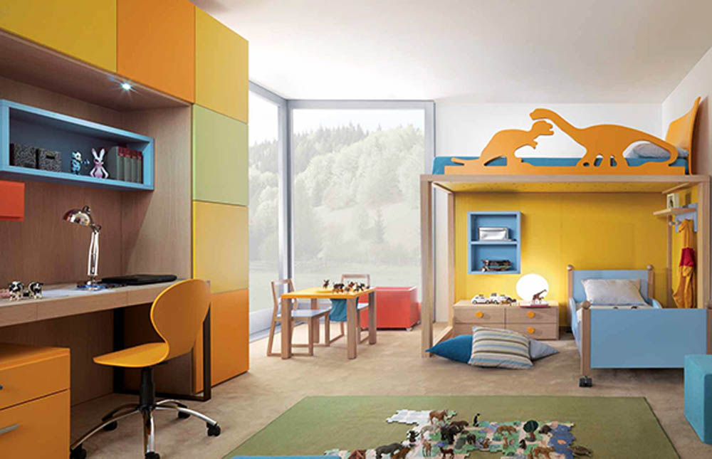 yellow kids bedroom design - Interior Design, Architecture and ...